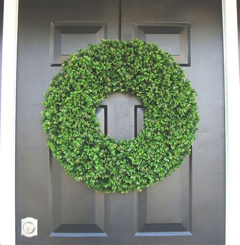 Outdoor Wedding Wreath Xxl Faux Boxwood Wreath Wedding
