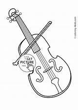 Violin Coloring Instruments Musical Pages Drawing Printable Bow Fiddle Simple Drawings Getdrawings Designlooter Easy Paintingvalley 1483 97kb sketch template