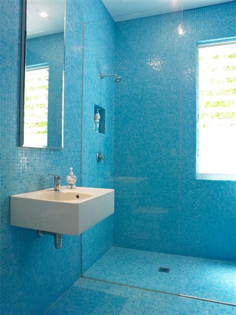 blue mosaic tile bathroom contemporary  bisazza mosaic