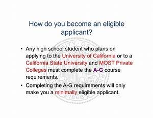 A-G: Requirements for College Readiness