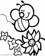Bee Coloring Honey Pages Clipart Clipartbest Cartoons sketch template
