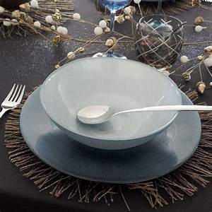 Assiette Bleu Canard : assiette creuse en verre grande contenance 20cm bleu canard ~ Teatrodelosmanantiales.com Idées de Décoration