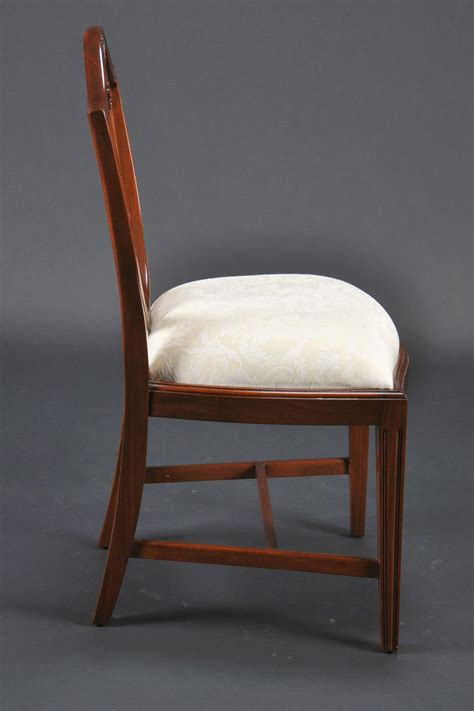 small vintage size shield back dining room chairs solid