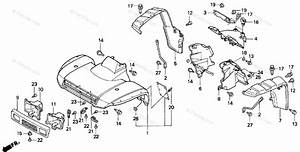 Honda Atv 2000 Oem Parts Diagram For Front Fender