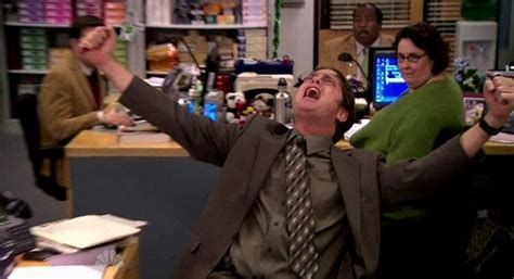 Dwight Standing At His Desk by What S Alan The Office Quot St S Day