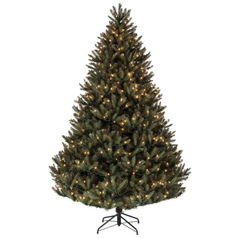 shop holiday living 7 5 ft pre lit fir artificial christmas tree with yellow incandescent lights