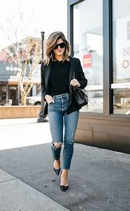 Black Blazer Jacket With Ripped Jeans And Heels Pictures Photos and Images for Facebook ...