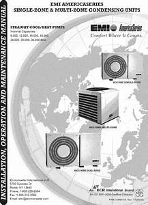 Emi Air Conditioner  Heat Pump Outside Unit  Manual L0612428