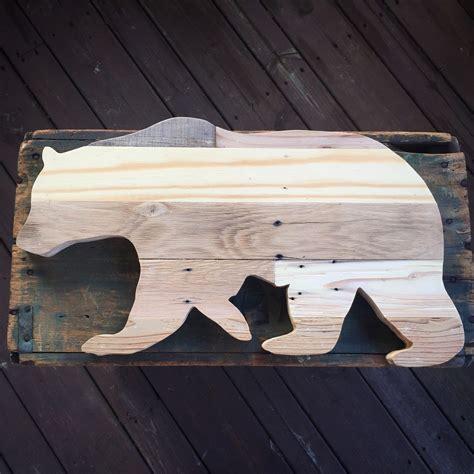 bear outline pallet wood cutout wood bear silhouette