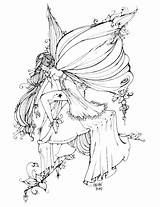 Coloring Fairy Pages Adults Elegant sketch template