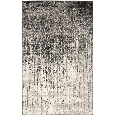 gray and black rug safavieh retro black grey 5 ft x 8 ft area rug ret2770