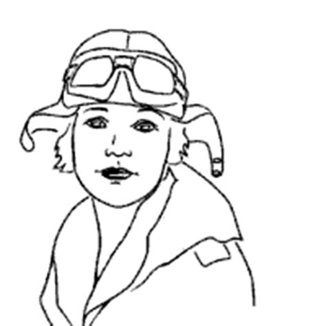 famous people amelia earhart coloring pages surfnetkids