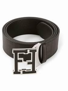 Fendi Branded Buckle Belt in Black for Men | Lyst