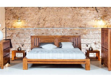 chambre acacia chambre adulte en bois massif lit quadro lit 2 places