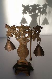 Vintage, Metal, Pagoda, Bells, Gong, With, Hammer