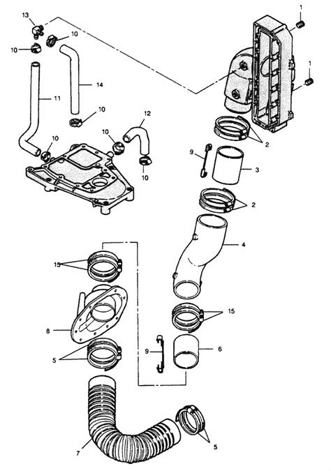 force  hp   drive exhaust system parts