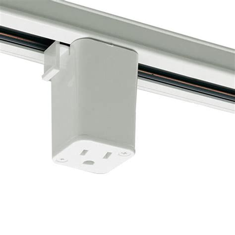 track lighting that plugs into outlet nora nt 327w outlet adapter halo track compatible