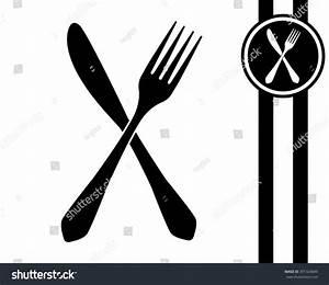 Fork Knife Black White Vector Icon Stock Vector 391324849 ...