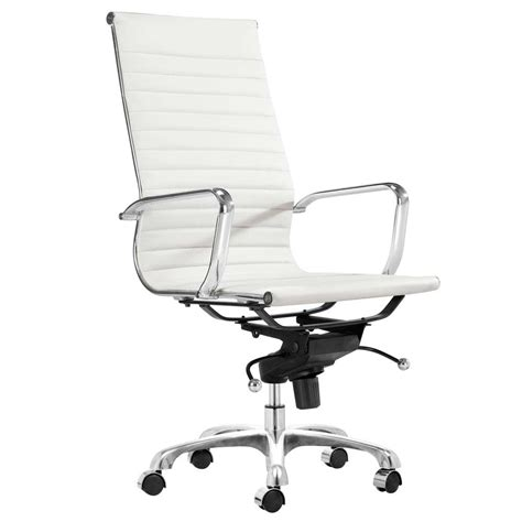 white office chair leather white desk chair office furniture