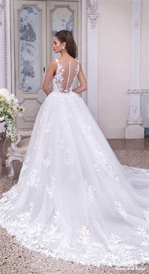 platinum  demetrios  wedding dresses roses rings