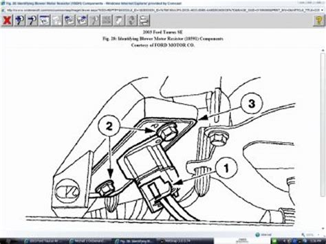 auto air conditioning service 2003 ford taurus free book repair manuals 2003 ford taurus air conditioning and heating system