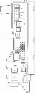 Toyota Avensis T250  2003- 2009  - Fuse Box Diagram