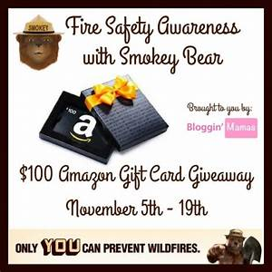 Giveaway: Fire Safety Awareness with Smokey Bear- $100 ...