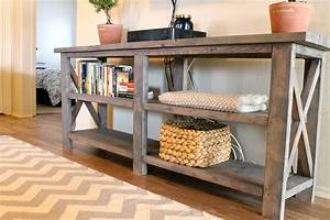 DIY X Console Table Me + Three {and counting}