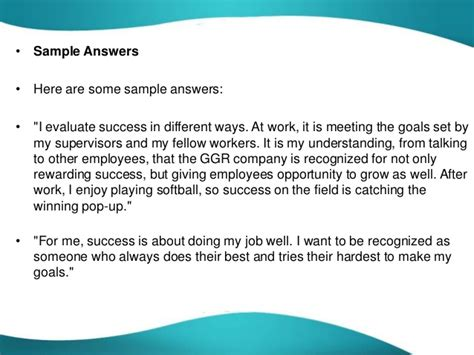 How Do You Evaluate Success by How Would You Measure Success Question