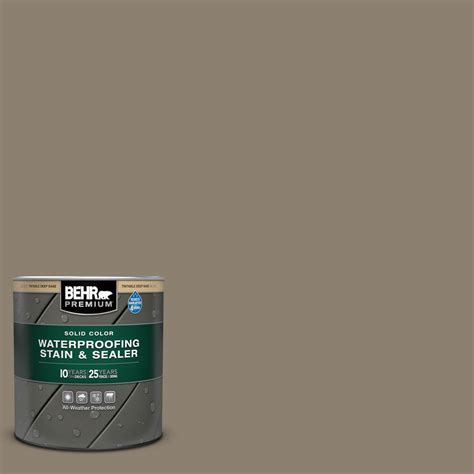 behr premium 1 qt 720d 5 mocha accent solid color waterproofing exterior stain and sealer
