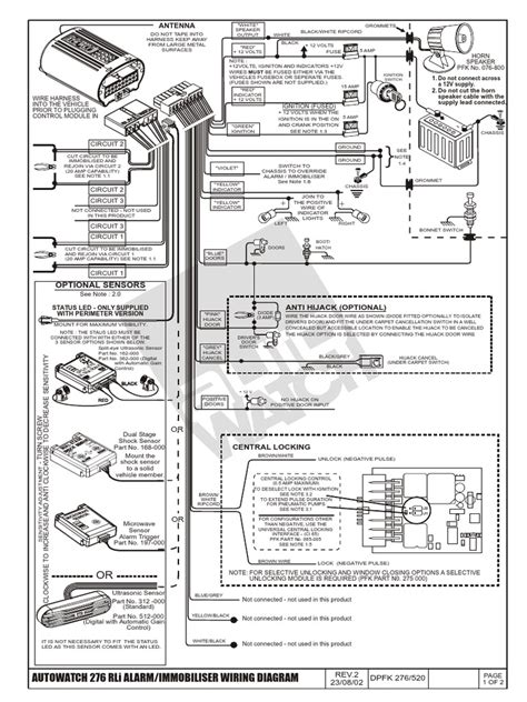 Elddi Caravan Wiring Diagram by Autowatch 276 Alarm Installation Docshare Tips