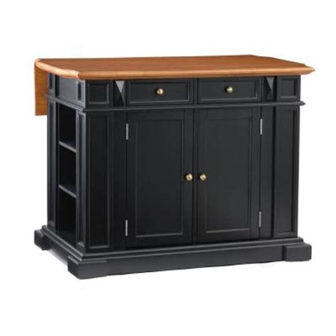 kitchen island at home depot home styles distressed oak drop leaf kitchen island in