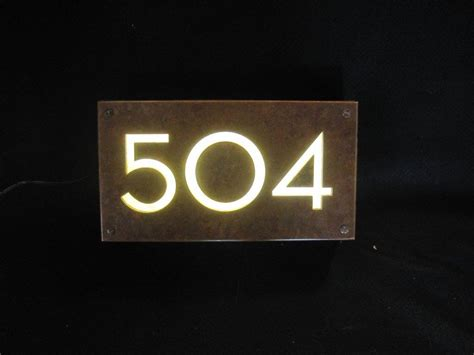 copper illuminated house sign 1d salt cnc water
