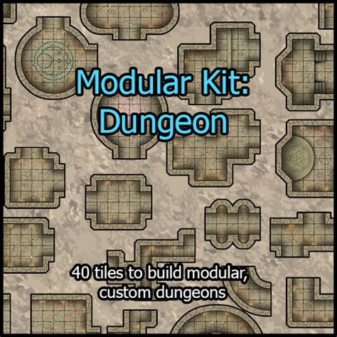3d Dungeon Tiles Pdf by Heroic Maps Modular Kit Dungeon Heroic Maps Caverns