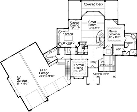 House Plans With Rv Garage home plan with rv garage 9535rw craftsman