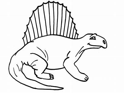 Dinosaur Clip Clipart Coloring Dinosaurs Drawing Pages
