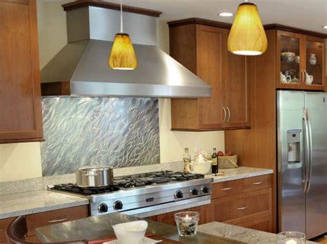 kitchen metal backsplash 20 stainless steel kitchen backsplashes hgtv