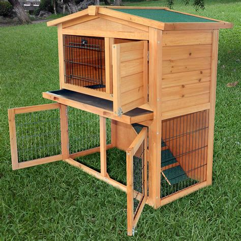 a rabbit hutch 40 quot new a frame wood wooden rabbit hutch small animal house