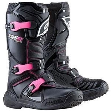 o neal motocross boots o neal womens element motorcycle boot pink black