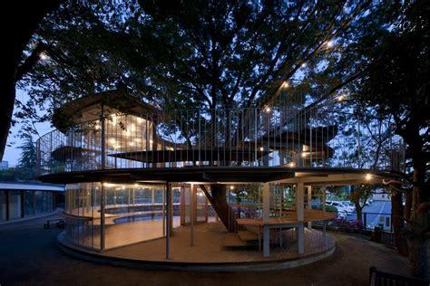 ring   tree fuji kindergarten japan  architect