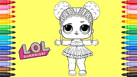 coloring lol surprise doll purple queen coloring page