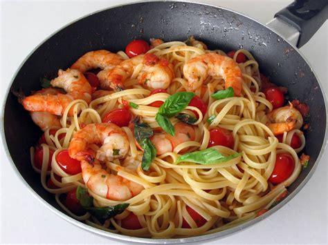 concours cuisine az pâtes aux crevettes tomates et basilic faciles cuisine az