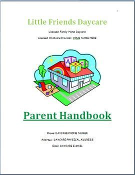 family childcare basic parent handbook template my 942 | cf3d1e20f0fb3494c985c140b7fb1d0b