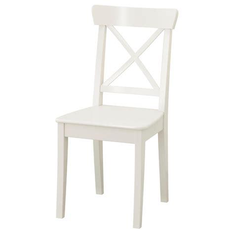 chaises design blanches ingolf chair white ikea