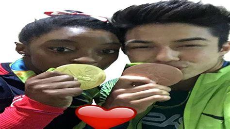 breaking news simone biles reunites   brazilian