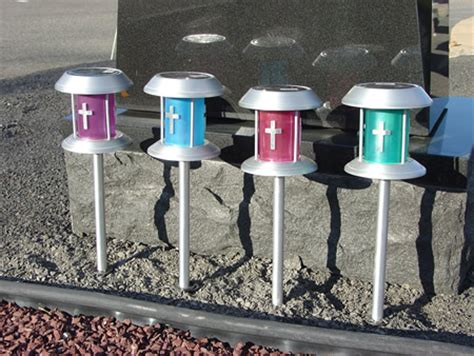 memorials solar vigil lights for gravesite lighting