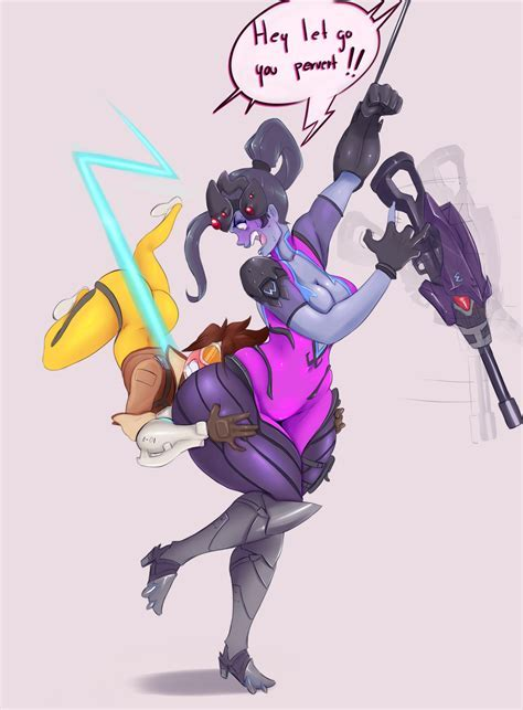 Tracer Butt Hugging Widowmaker By Sunny Sundown Overwatch Know Your Meme
