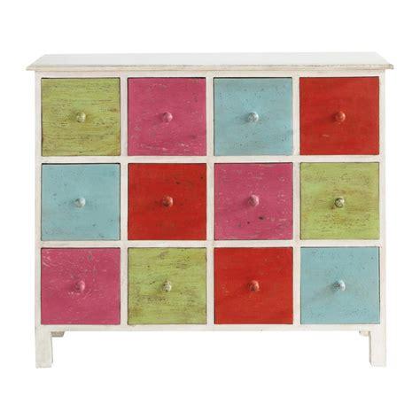 commode cabinet multi tiroirs multicolore holi maisons du monde