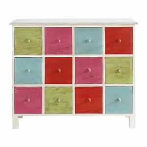 Cabinet Maison Du Monde : commode cabinet multi tiroirs multicolore holi maisons du monde ~ Nature-et-papiers.com Idées de Décoration