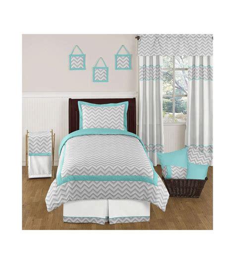 Turquoise Chevron Bedding by Sweet Jojo Designs Zig Zag Turquoise Grey Chevron